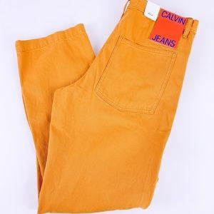 Calvin Klein Men's Stylish Yellow Mustard Jeans